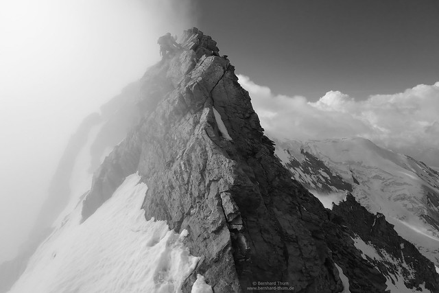 At southern crest of Lagginhorn Black and white N°3