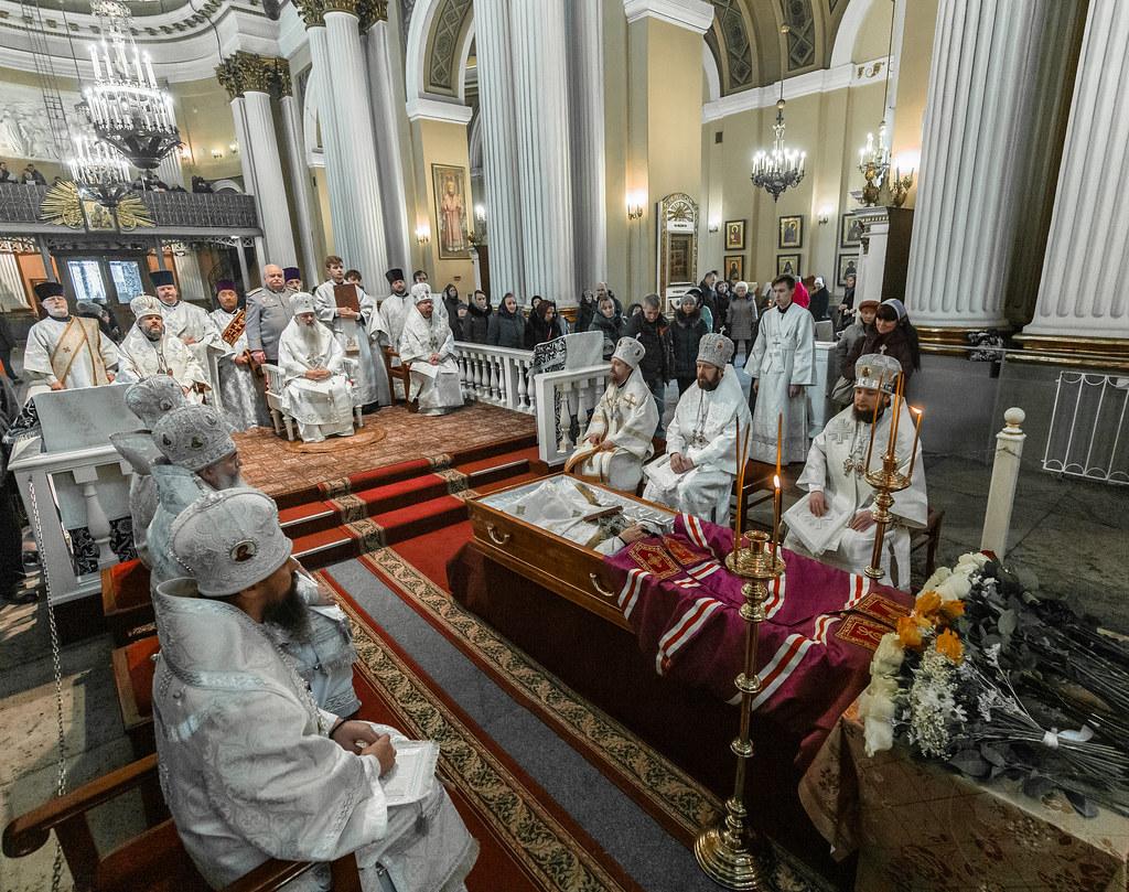16 марта 2019, Отпевание и погребение епископа Царскосельского Макрелла (Ветрова) / 16 March 2019,The funeral service for bishop Markell (Vetrov) of Tsarskoe selo