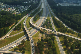 I-85 Aerial Facing South From I-285 Ramps