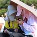 Touristes japonais masqués