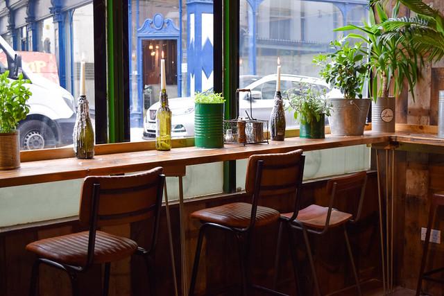 Window Seating at Luben's Pizza, Folkestone