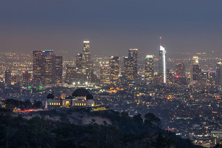 The Griffith Observatory and downtown Los Angeles in the background | by AlejPix