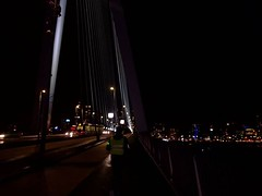 Part of the #IFFR experience: crossing the Erasmusbrug on foot at least once #nightshot