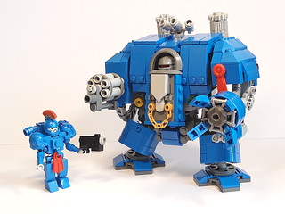 Space Marine and Dreadnought