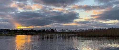 galwayirelandmenlocastlesunsetskyriver ireland galway river corrib sunset
