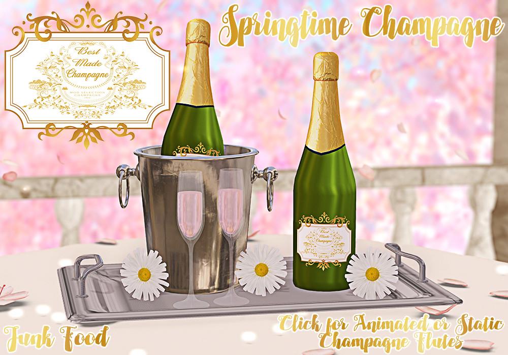 Junk Food – Springtime Champagne Ad