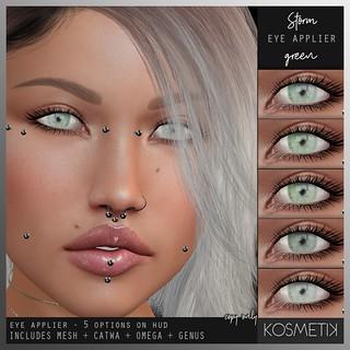 .kosmetik Eye Applier Storm - Green | by .kosmetik