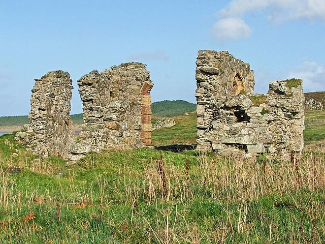 Ruins of St Dwynwen's Church, Ynys Llanddwyn - 30 Oct 2005
