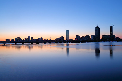 cold day charlesriver river reflections reflection boston massachusetts ma city downtown cambridge urban cityscape lights beauty morning calm am core water dark light sunrise sun pink bluehour