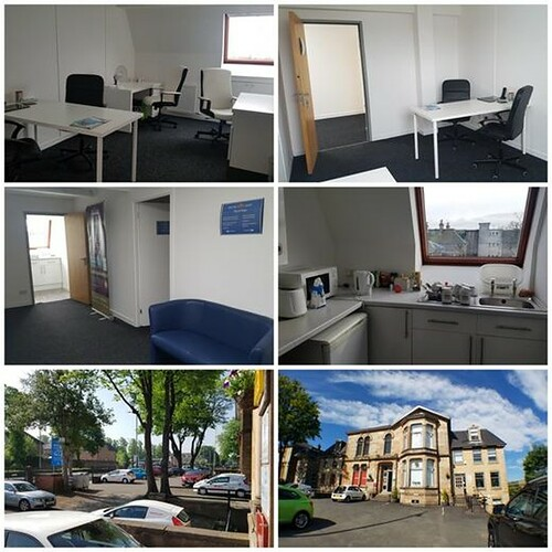 MIRREN BUSINESS CENTRES Modern and attractive suite of 150 sqft available to let with car parking at Mirren Court Three, 3rd floor, Renfrew Road, Paisley. The space is ideal as an office for 1/2 people. https://psly.scot/2T6lpXZ | by paisleyorguk