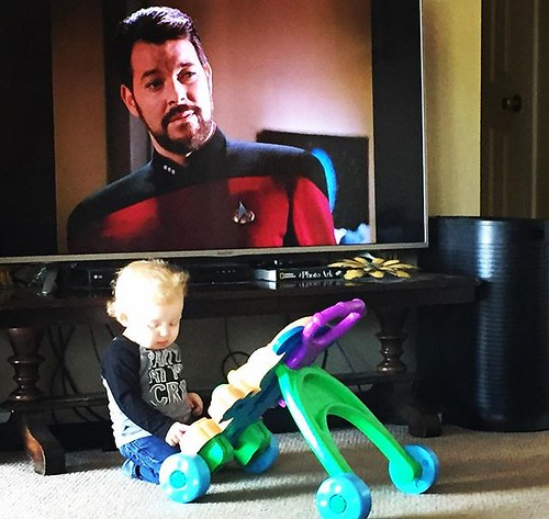 It's never too early and a child is never to young to start learning about great adventure and love of the open ocean, or space. #startrek @startrek #bryantgannclan2019 | by rustyb78