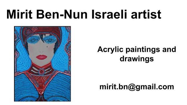 Mirit Ben-Nun inspired woman favorite life joy soul art exhibit