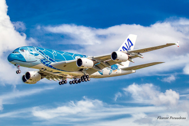 F-WWSH // JA381A All Nippon Airways Airbus A380-841 Lani the flying Turtle