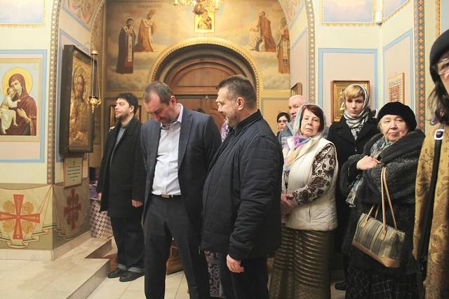 Богослужение в храме Феодоровской иконы Божией Матери при РГСУ