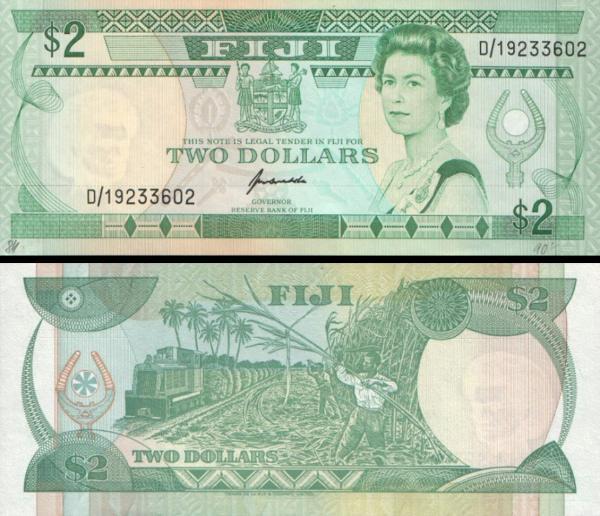 2 fidžijské doláre Fidži 1995, P90a