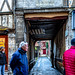 A Large Tunnel Connecting Adjacent Streets:  Architecture and Buildings of Ancient houses on the street of the old town in Rouen city, the capital of Normandy region in France-55