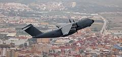 Royal Air Force Airbus Military A400M Atlas C1 ZM417 departing RAF Gibraltar