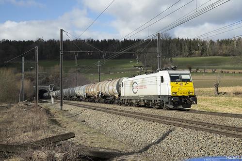 186 165 . DB Cargo . E 45587 . Hombourg . 19.02.19.