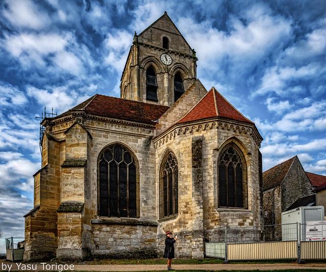 View of Église Notre-Dame-de-l'Assomption d'Auvers-sur-Oise, France-24a