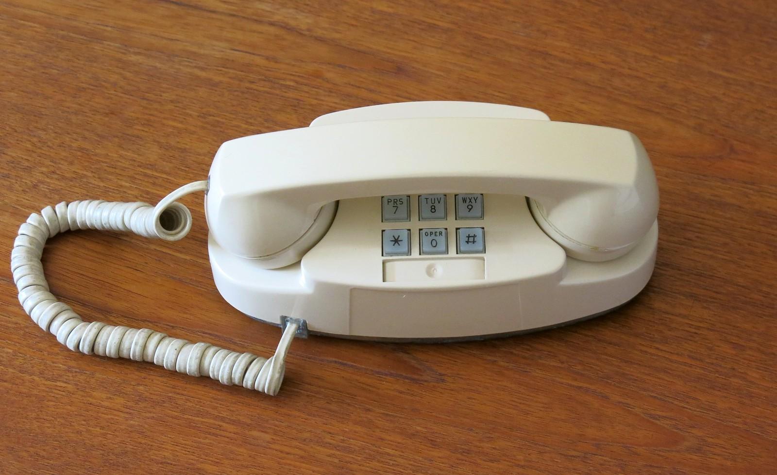 Western Electric Ivory Princess Push Button Phone - circa