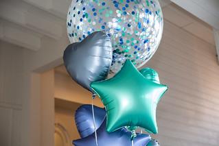 Ballonnen tros met folie ballonnen en confetti ballon | by BallondecoNL