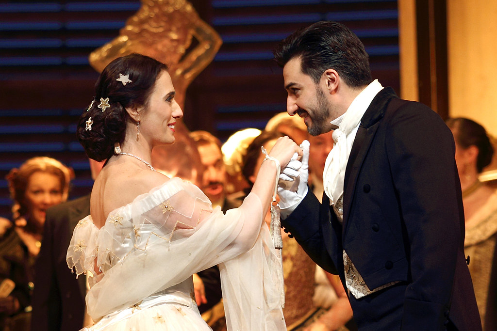 Ermonela Jaho as Violetta Valéry and Charles Castronovo as Alfredo Germont in La traviata, The Royal Opera ? 2019 ROH. Photographed by Catherine Ashmore