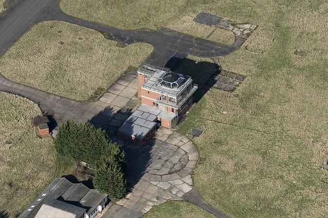 RAF Sculthorpe control tower - aerial image