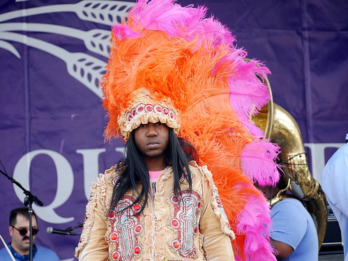 Cha Wa on Day 1 of French Quarter Fest - 4.11.19. Photo by Louis Crispino.