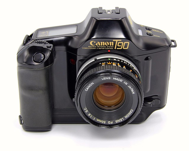 Canon T90 + Canon FD 50mm F1.8. S.C. Made in Japan. 1986