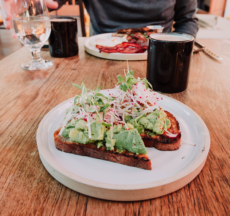Avocado toast Palm Springs