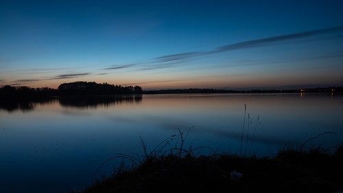 Sunset over Stoneyford Reservoir