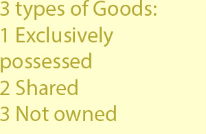 3 types of Goods