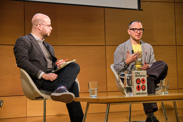 Me and Barry Hertz, Radicalized book launch, Metro Reference Library, Toronto, Ontario, Canada 11 by Nikola Danaylov.jpg