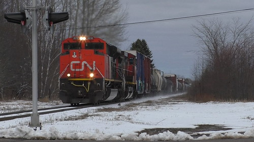 trains train cn west westbound 406