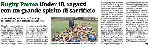 Gazzetta di Parma 3 - 03.04.19 - Speciale n. 3 pag 47 - UNDER 18