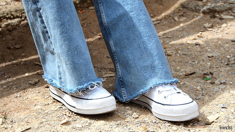 pantalones de campana de mujer