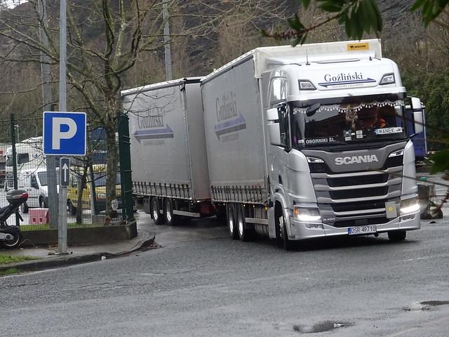 GOZLINSKI TRANSPORT(PL) Scania R 450 NG parking Zaisa I Béhobia(E) 23.01.2019