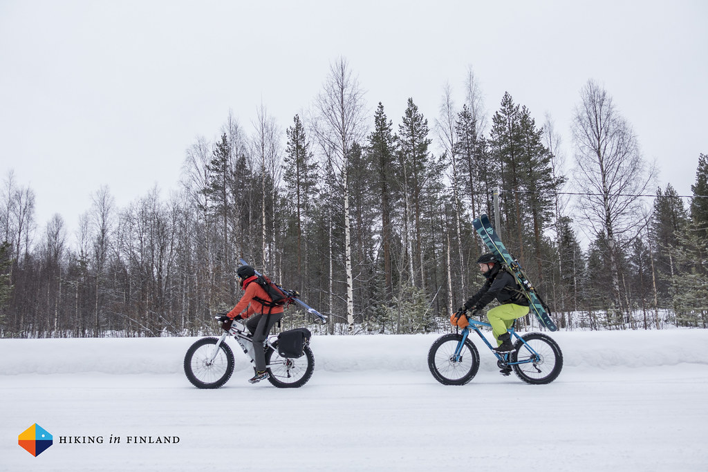 Cycling to go skiing