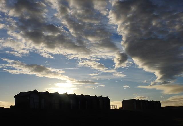 Sunrise - Beach Huts on Blyth Seafront
