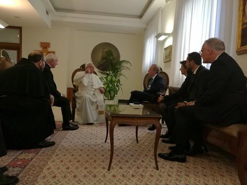 Visita in Vaticano del presidente di Microsoft | by monspaglia