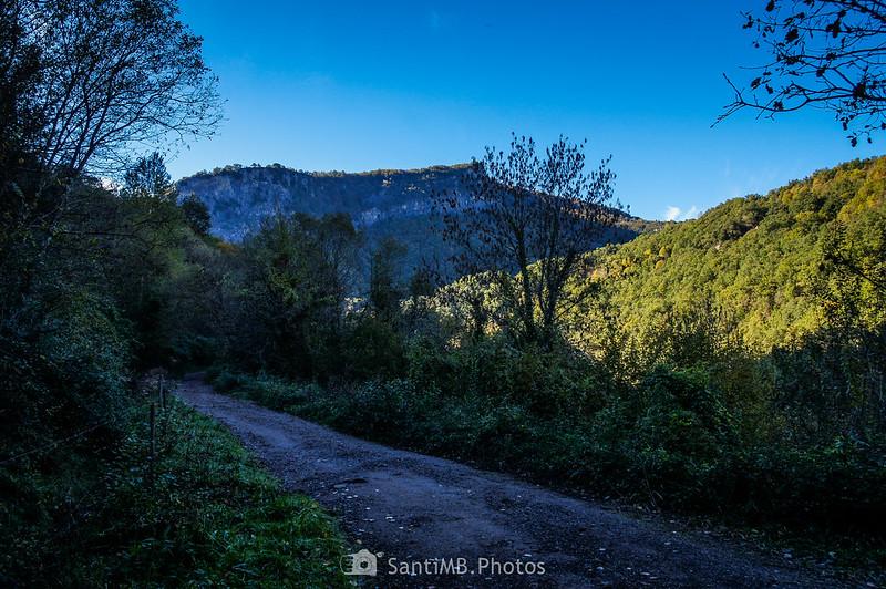 La Serra de Freixaneda desde el Camí de les Olletes