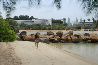 Samantha at a little deserted bounty beach on Sentosa island | by B℮n
