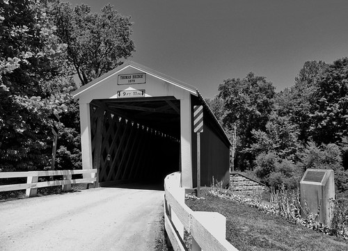 blackwhite blackandwhite bw thomasford covered bridge outside transportation scenic scenery landscapes georgeneat patriotportraits neatroadtrips indiana county pa pennsylvania