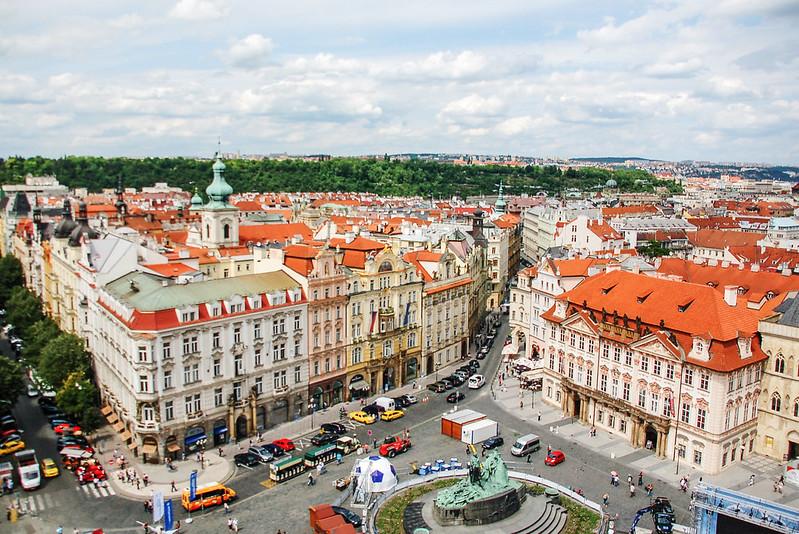 布拉格天文鐘鐘樓頂北向展望