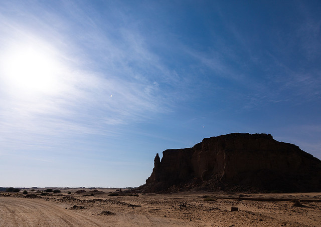 Holy mountain of jebel Barkal, Northern State, Karima, Sudan