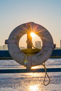 Frozen Pier Ring Sunset | by VBuckley.com