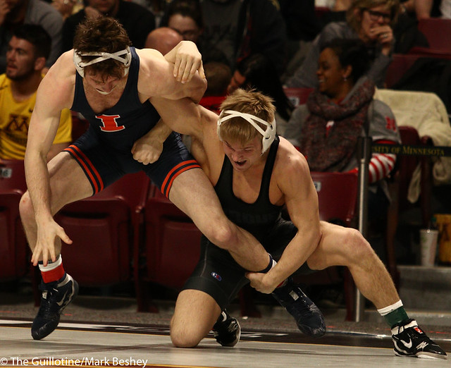 9th Place Griffin Parriott (Purdue) 2-0 won by decision over Eric Barrone (Illinois) 1-1 (Dec 5-2) Semis  - 190310cmk0089