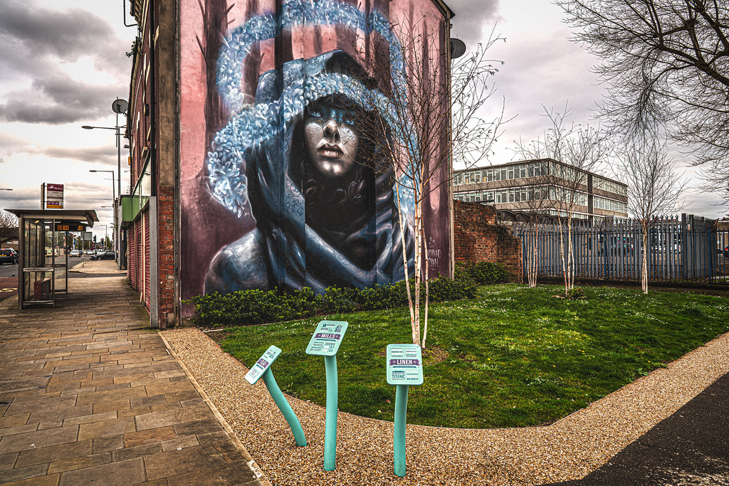 LINENOPOLIS AN EXAMPLE OF STREET ART BY NOMAD CLAN [TOWER STREET - NEWTOWNARDS ROAD BELFAST]-151383