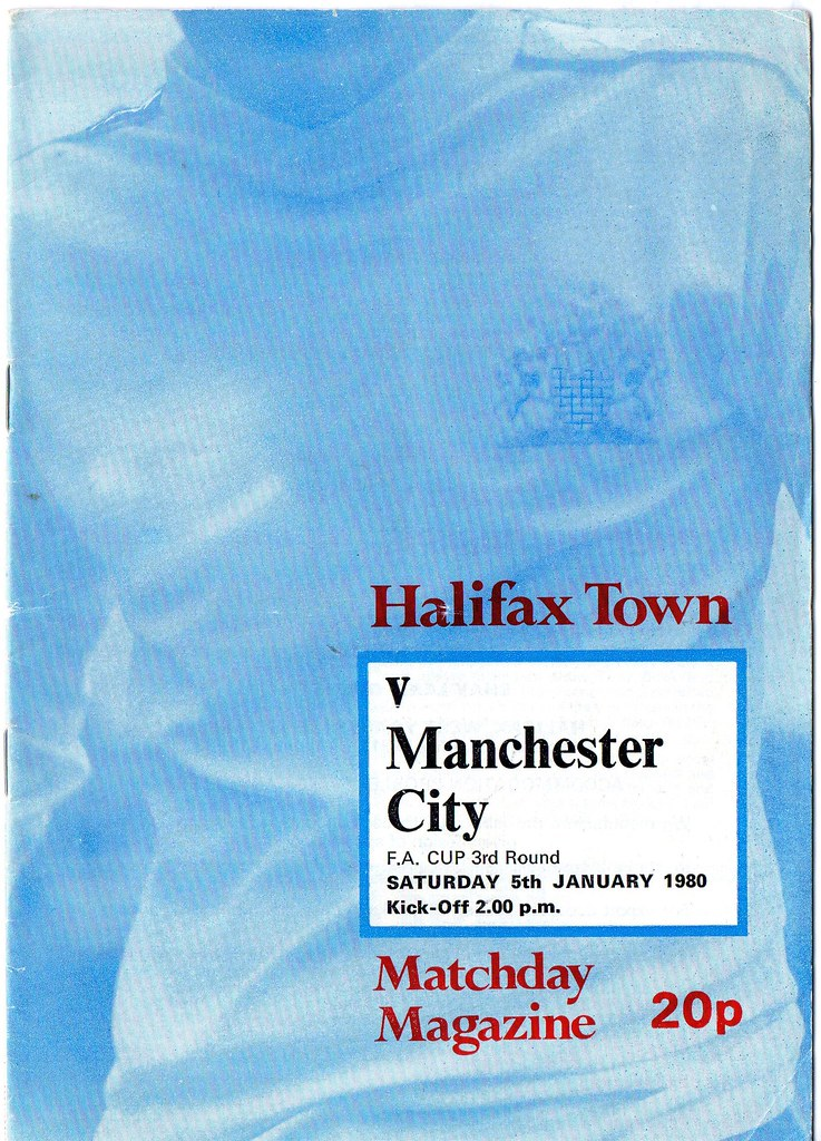 (Programme) 05-01-1980 Halifax Town 1-0 Manchester City (FAC) 1