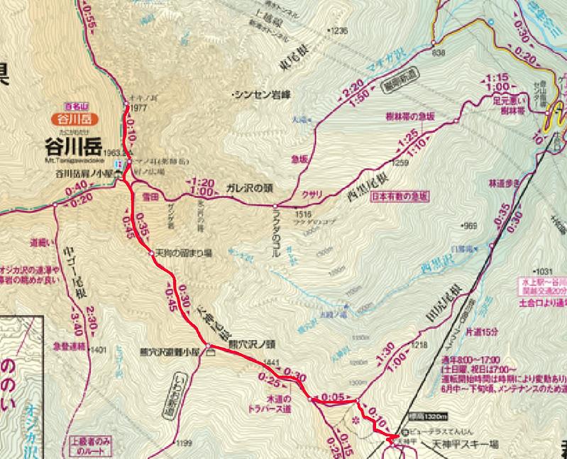 谷川岳の地図